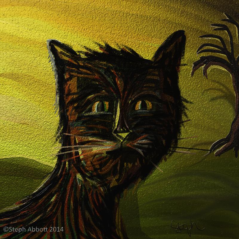 Familiar Meow ©Steph Abbott 2014